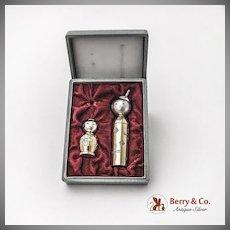 Japanese Kokeshi Dolls Lipstick Holder Perfume Bottle Funnel 950 Sterling Silver