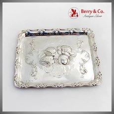 Repousse Reynolds Angels Dresser Tray William Myatt Co Sterling Silver 1906 Birmingham