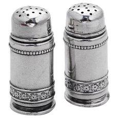 Aesthetic Small Salt Pepper Shakers Pair Gorham Sterling Silver 1880