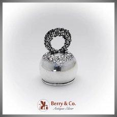 Floral Repousse Dinner Bell Shiebler Sterling Silver 1880