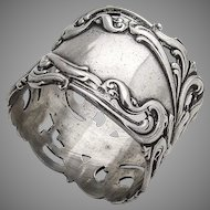 Baroque Scroll Openwork Napkin Ring Frank M Whiting Sterling Silver 1900