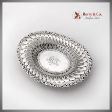 Louis XV Bon Bon Dish Candy Bowl Whiting Mfg Co Sterling Silver 1891 Mono