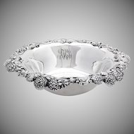 Tiffany Co Clover Serving Bowl Openwork Applied Rim Sterling Silver 1900 Monogram