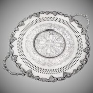Ornate Grape Vine Openwork Serving Plate Tray W A Rogers Silverplate