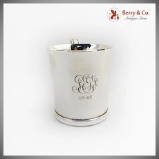Tiffany Co Cup Mug John Dixwell Reproduction Sterling Silver Monogram