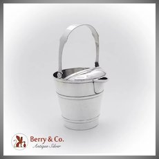 Banded Pail Form Martini Pitcher Shreve Co Sterling Silver