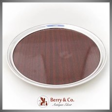 Circular Formica Picwood Tray Beaded Border Revere Sterling Silver 1950