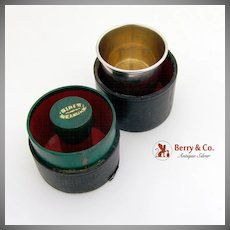 Cased Shot Cup Gilt Interior J Tostrup 830 Standard Silver Norway