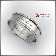 Round Narrow Napkin Ring Florence Gorham Sterling Silver