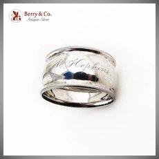 Vintage Napkin Ring Milled Rims Sterling Silver