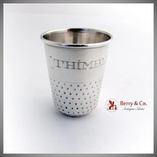 Thimble Full Shot Cup Sterling Silver Mexico 1970