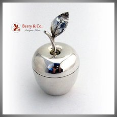 Tiffany Co Apple Form Box Gilt Interior Sterling Silver