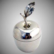 Tiffany Co Apple Form Box Gilt Interior Sterling Silver
