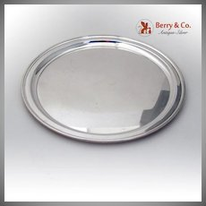 Tiffany Co Round Cocktail Tray Sterling Silver 1950