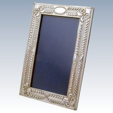 Repousse Ornate Italian Picture Frame 999 Sterling Silver 1980