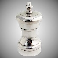 Vintage Pepper Mill Grinder Shreve Co Sterling Silver 1940