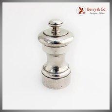 Vintage Pepper Mill Grinder Watson Silver Co Sterling Silver 1940