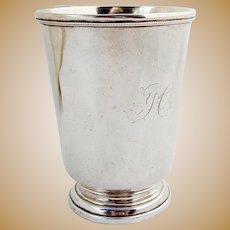 Antique Beer Mug Vanderslice Co Coin Silver 1863 San Francisco CA Mono