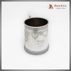 Engraved Centennial Childs Cup Schulz Fischer Coin Silver San Francisco