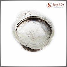 Matte Finish Open Salt Pedestal Base Vanderslice Co Coin Silver Monogram