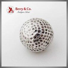 Tiffany Co Golf Ball Box Renato Salimbeni Sterling Silver Florence Italy