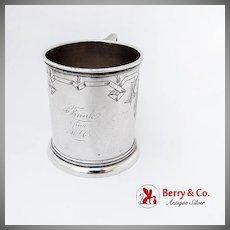 Vintage Engraved Childs Cup Vanderslice Co Coin Silver San Francisco