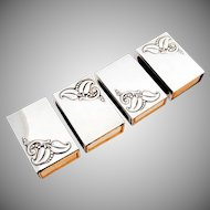 Blossom Match Box Covers Set Webster Co Sterling Silver