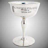 San Mateo Polo Club Trophy Gilt Interior Shreve Co Sterling Silver 1913