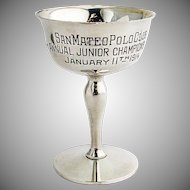 San Mateo Polo Club Trophy Gilt Interior Shreve Co Sterling Silver 1914