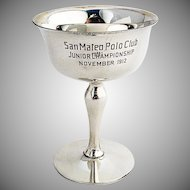 San Mateo Polo Club Trophy Gilt Interior Shreve Co Sterling Silver 1912