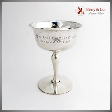 San Mateo Polo Club Trophy Shreve Co Sterling Silver 1912