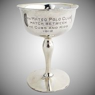 San Mateo Polo Club Trophy Gilt Interior Shreve Co Sterling Silver 1912