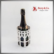 Large Openwork Bottle Holder Shreve Co Sterling Silver San Francisco