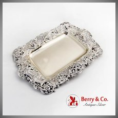 Openwork Baroque Ice Cream Tray Gilt Interior Shreve Co Sterling Silver 1885