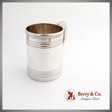 English Barrel Style Childs Cup Mug Vanderslice Co Coin Silver No Mono