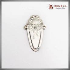 Repousse Floral Scroll Bookmark Towle Sterling Silver