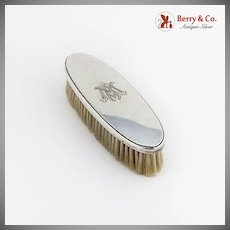 Clothes Brush Tiffany and Co 1950  Sterling Silver MA Monogram