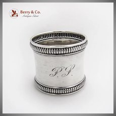 Antique Napkin Ring Sterling Silver Gorham Silversmiths 1910