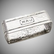 Arts and Crafts Rectangular Napkin Ring Sterling Silver Watrous 1930