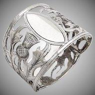 Vintage Napkin Ring Open Work Thistle Sterling Silver Birmingham 1931