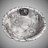 Wallace Poppy Serving Bowl Sterling Silver 1940