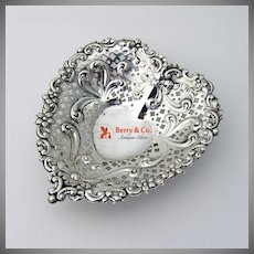 Heart Bowl Dish Sterling Silver Gorham 956