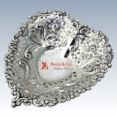 Heart Bowl Dish Sterling Silver Gorham 956