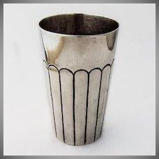 Mexican Modernist Beaker Sterling Silver 1960 Feisa