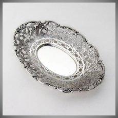 Ornate Serving Dish Dutch 833 Standard Silver 1932