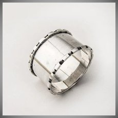 Edwardian Napkin Ring Sterling Silver Birmingham 1908 Henry Moreton