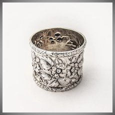 Tiffany and Co Repousse Napkin Ring Sterling Silver 1892 - 1902