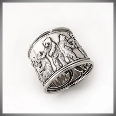 Napkin Ring Nursery Rhyme Bear Decorations Sterling Silver Gorham 1907