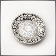 Repousse Nut Cup Butter Pad Sterling Silver S. Kirk 1880