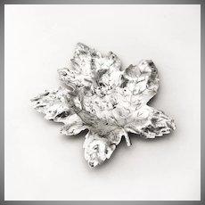 Maple Leaf Fork Serving Dish Sterling Silver Blackinton 1900